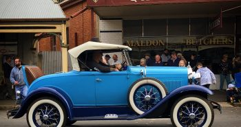 Blue Vintage Car - Maldon Easter Parade